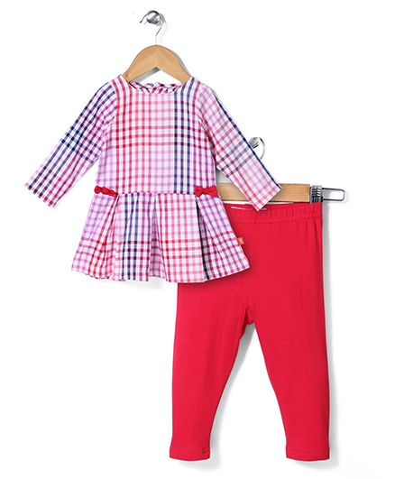 Magnificent Baby Checkered Set - Pink & Blue