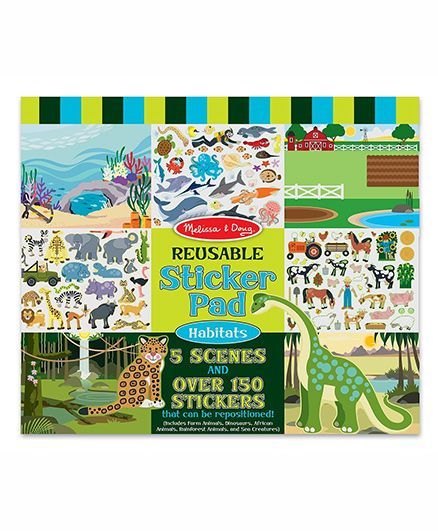Melissa & Doug Reusable Habitats Sticker Pad