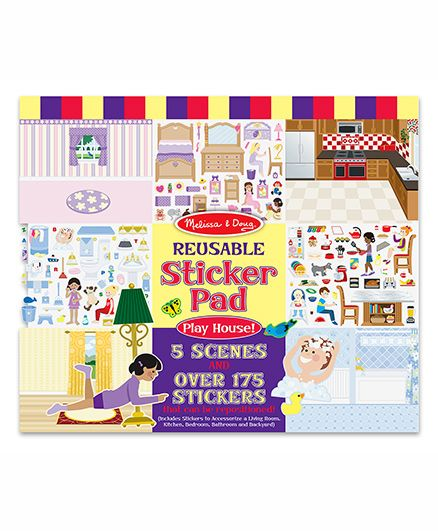Melissa & Doug Reusable Playhouse Sticker Pad