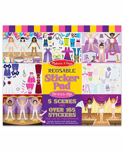 Melissa & Doug Reusable Fashion Sticker Pad
