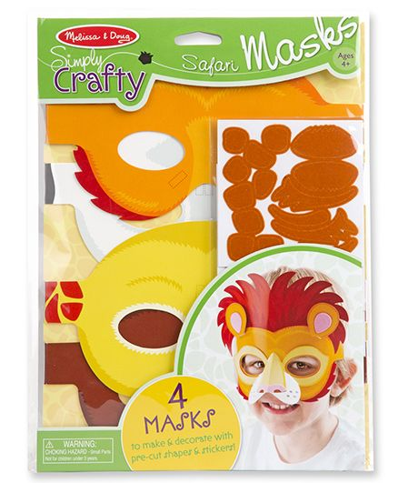 Melissa & Doug Simply Crafty Safari Masks