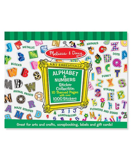 Melissa & Doug Sticker Collection - Alphabets And Numbers