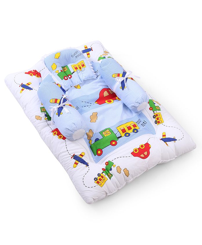 Babyhug Gadda Set Big Transport Print - Blue