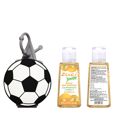 Zuci Junior Muskmelon Hand Sanitizer With Foot Ball Bag Tag