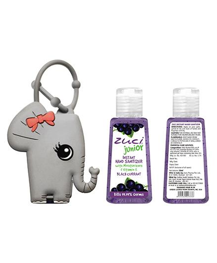 Zuci Junior Black Current Hand Sanitizer With Elephant Bag Tag - 30 ml