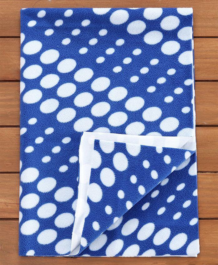 Quick Dry Laminated Fabric Bed Protector Blue Circle- Medium