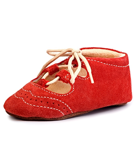Beanz Shoes Style Booties - Red