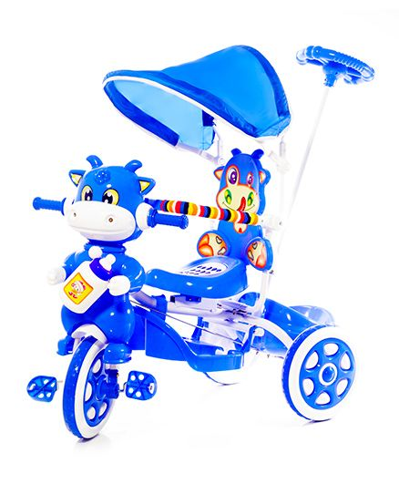 Luusa Hunny Bunny Cow Design Tricycle - Blue