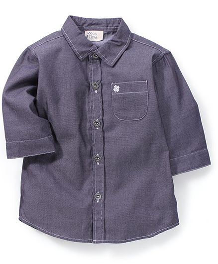 Timeless Fashion Solid Shirt - Dark Grey