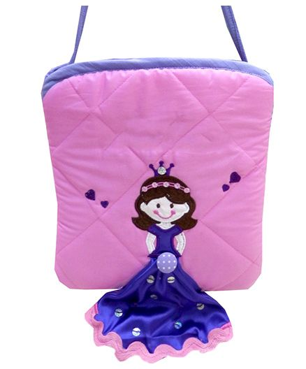 Little Pipal Royal Princess Mini Tote Pink And Purple - 8 Inches