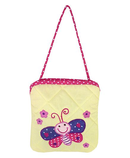 Little Pipal Butterfly Mini Tote Yellow - 8 Inches