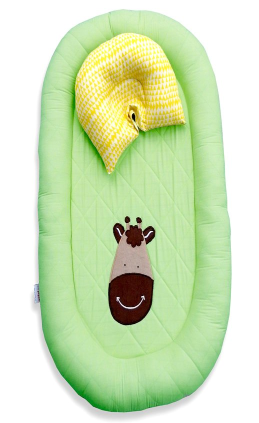 Little Pipal Tall As Daddy Reversible Cocoon And Pillow Set - Green