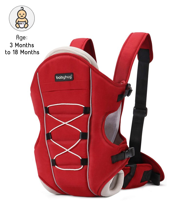 Babyhug 3 Way Baby Carrier - Red