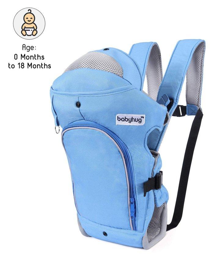 Babyhug Comfort Nest 3 Way Baby Carrier - Sky Blue