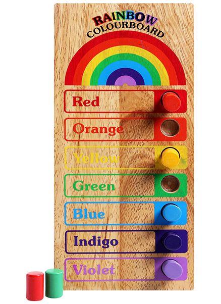 Little Genius - Wooden Rainbow Colourboard