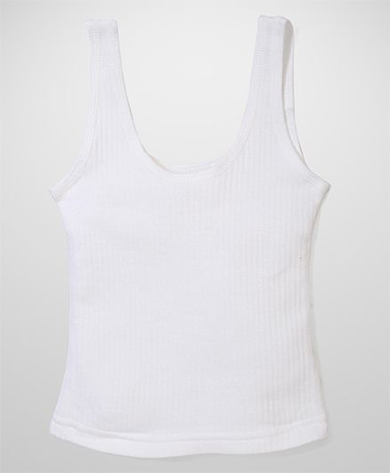 Bodycare Sleeveless Thermal Vest - Off White