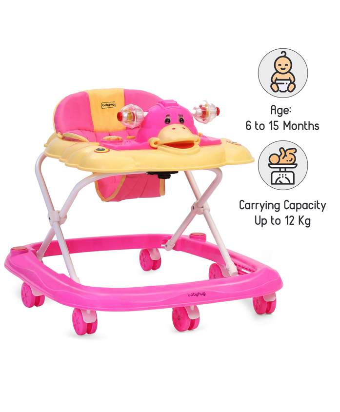 Babyhug Happy Duck Musical Walker - Pink
