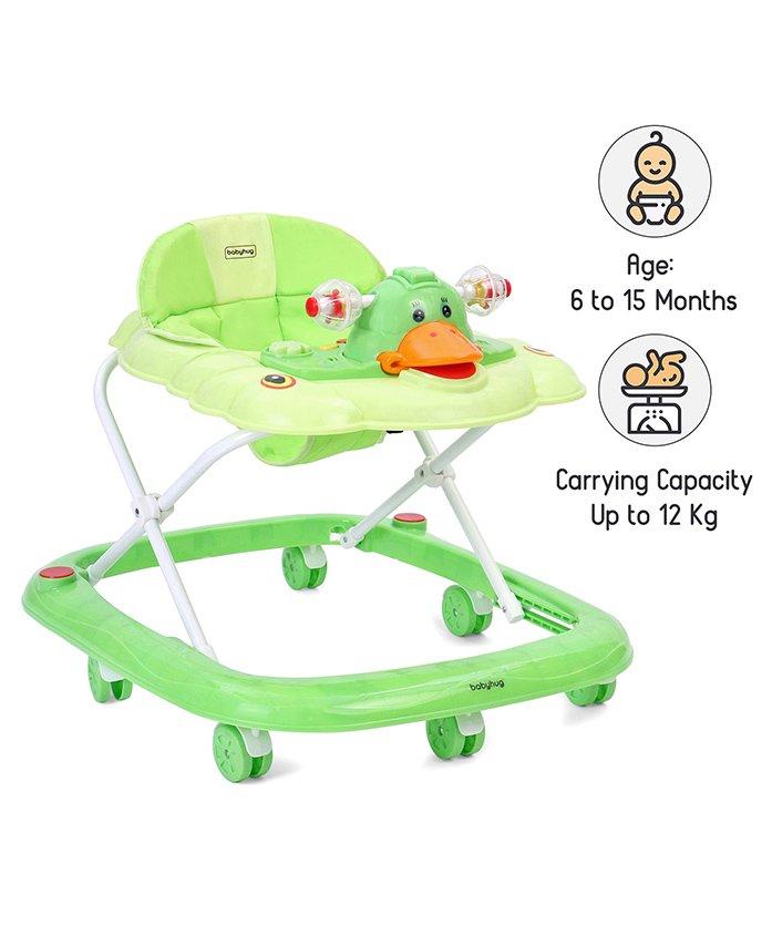 Babyhug Happy Duck Musical Walker - Green