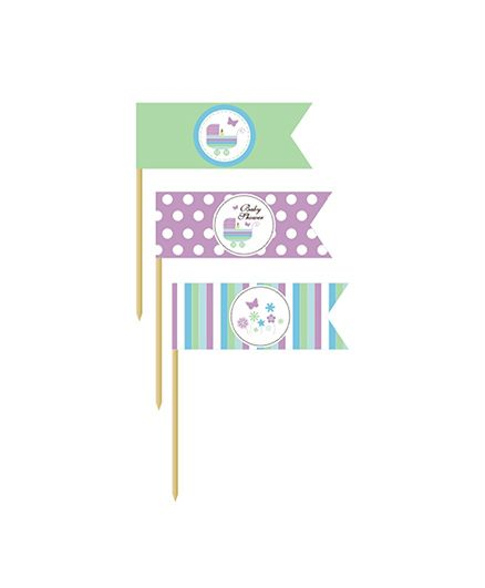 Prettyurparty Baby Shower Toothpicks - Multi Color