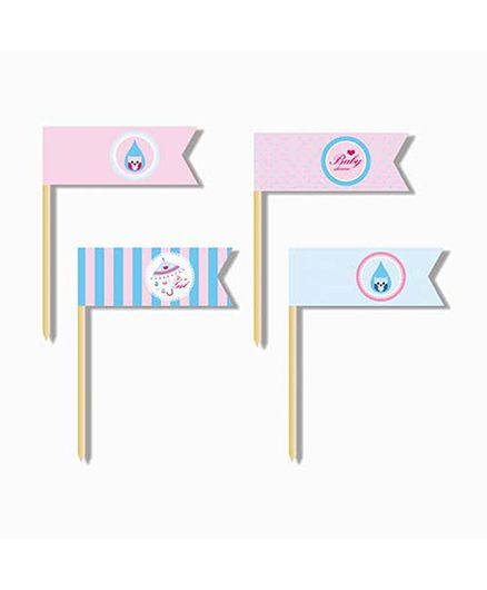 Prettyurparty Baby Shower Toothpicks - Pink And Blue