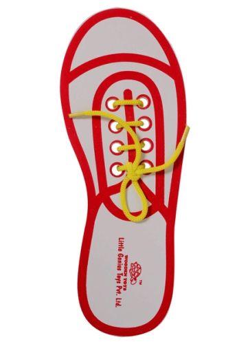 Little Genius - Wooden Lace Up Shoe