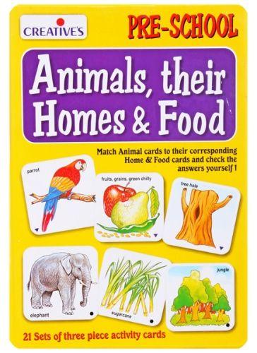 Creatives - Animals Their Homes & Food Activity cards- Preschool
