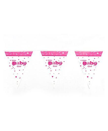Funcart Little Baby Triangular Flag Banner - Pink