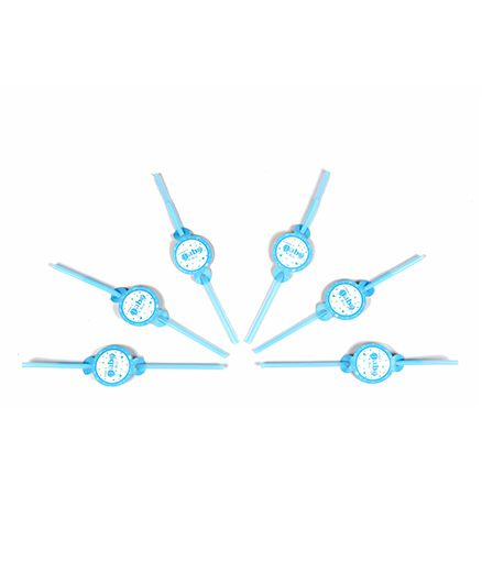 Funcart Little Baby Theme Drinking Straws - Blue