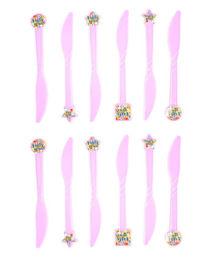 Funcart Party Time Theme Knife - Pack of 6
