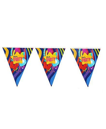 Funcart Fun & Frolic Party Theme Triangular Flag Banner