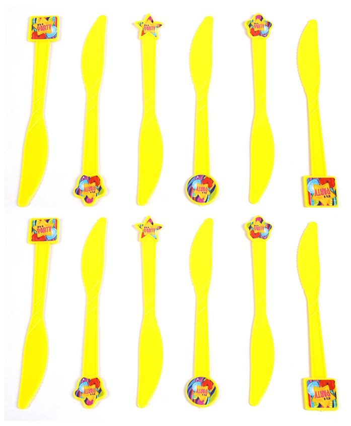 Funcart Fun & Frolic Party Theme Knife - Pack of 6