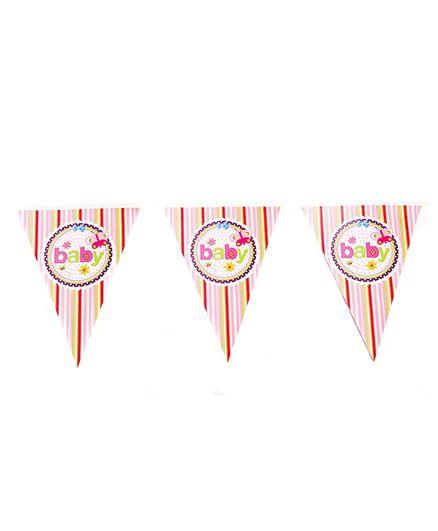 Funcart Butterfly Baby Theme triangular Flag Banner