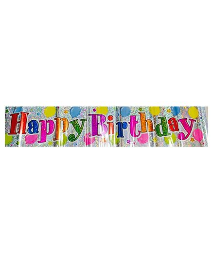 Happy Birthday Balloons Holographic Banner
