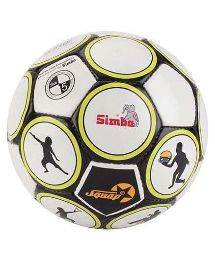 Simba Squap Soccer Ball - Black And White