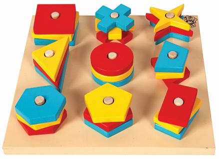 Skillofun Nine Wooden Shape Sorter
