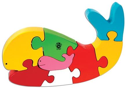 Skillofun - Take Apart Wooden Puzzle Whale