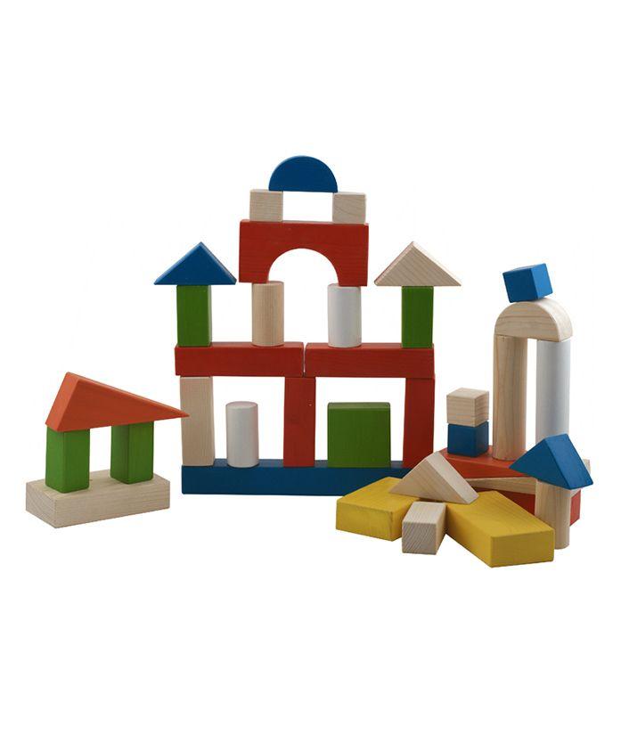 Skillofun Wooden Building Blocks 60 Pieces