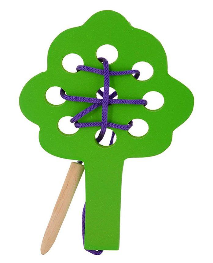 Skillofun Wooden Sewing Toy Tree