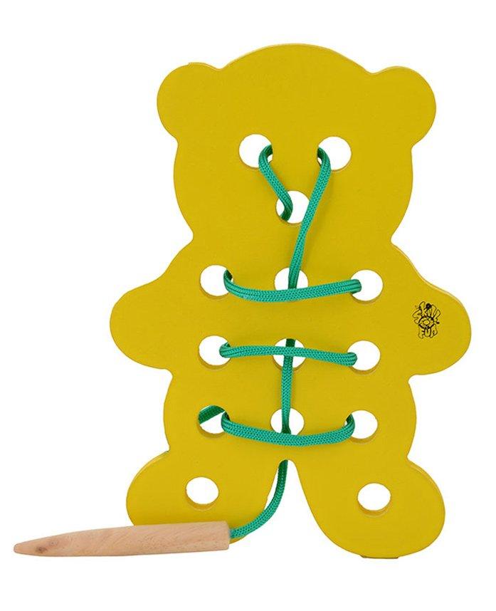 Skillofun - Wooden Sewing Toy Teddy Bear