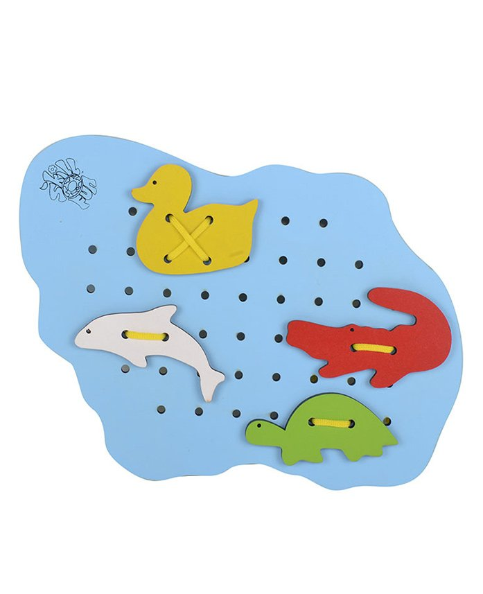 Skillofun - Wooden Sewing Pond With Water Animals