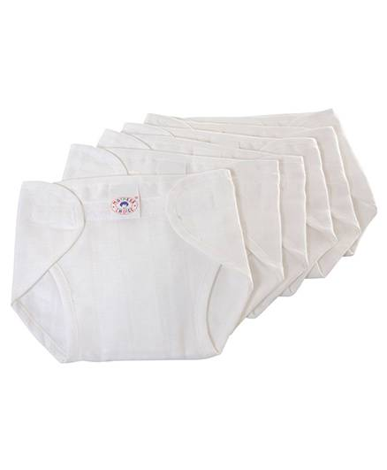 Mothers Choice Cloth Nappy Velcro New Born - Set of 6
