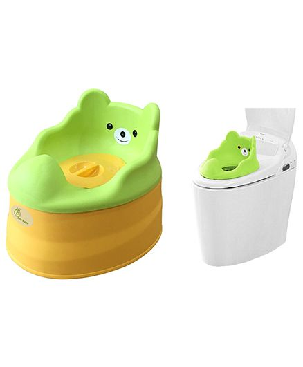 R for Rabbit Tiny Tots Adaptable Potty Training Seat - Green Yellow
