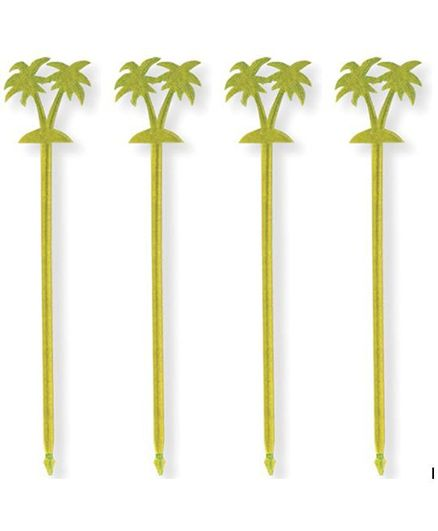 Wanna Party Palm Tree Plastic Toothpicks - Pack of 12
