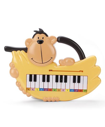Monkey Musical Piano Toy - Yellow