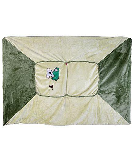 Baby Oodles Cushion cum Zipper Quilt Koala Applique - Green