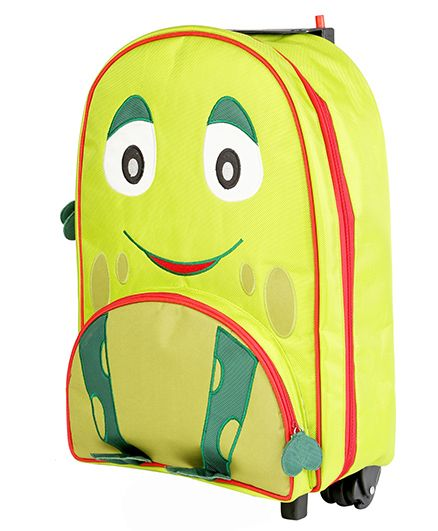 My Gift Booth Travel Trolley Bag Frog Print - Green