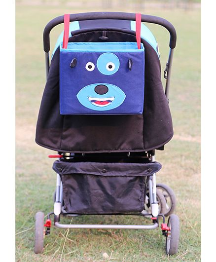 My Gift Booth Doggy Print Pram Organiser - Blue