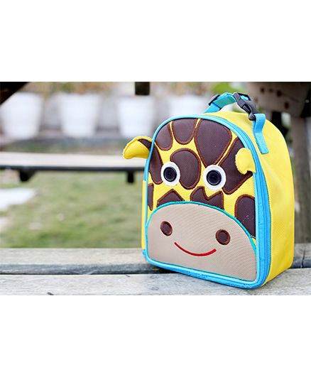 My Gift Booth Giraffe Print Insulated Lunch Bag - Yellow And Brown