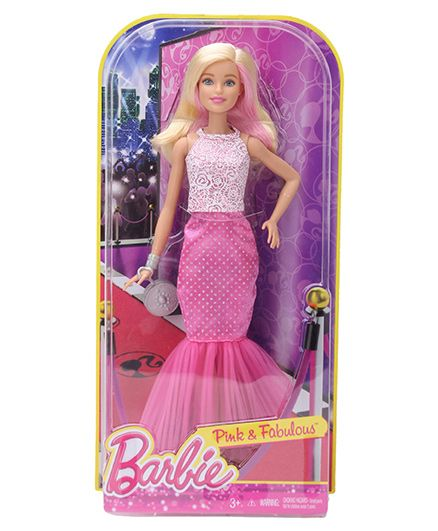 Barbie Pink And Fabulous Doll - 29 cm
