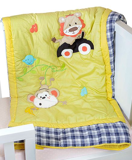 The Button Tree Swing Along Baby Quilts - Lime Green